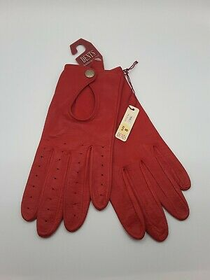 £5.50 • Buy Dents Soft Red Leather Gloves Size 8 BNWT