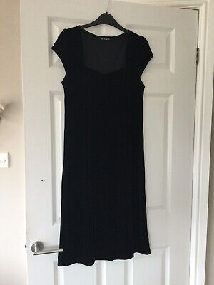 £3 • Buy Marks And Spencer Autograph Black Velour Dress. Size 12