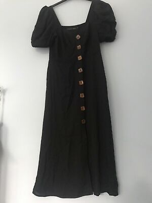 £10 • Buy House Of Harlow 1960 From Revolve Black Square Button Midi Dress Size Medium