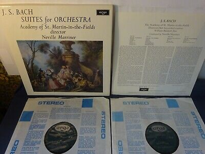 £7 • Buy OVAL BACH - SUITES FOR ORCHESTRA 2LP BOX, ASMF, Marriner, ARGO ZRG 687-8