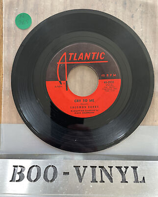 """£69.99 • Buy SOLOMON BURKE- CRY TO ME ATLANTIC 45-2131 Classic NORTHERN SOUL 7"""" RECORD"""