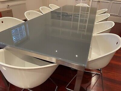 AU3950 • Buy Dining Room Table - 10 Seater - Glass - Stainless Steel
