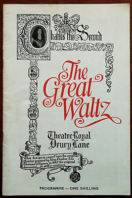 £6.99 • Buy The Great Waltz A Musical Romance On The Life Of Johann Strauss Programme 1969