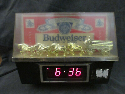 $ CDN94.04 • Buy Budweiser King Of Beers Lighted Sign With Clydesdale Team And Wagon