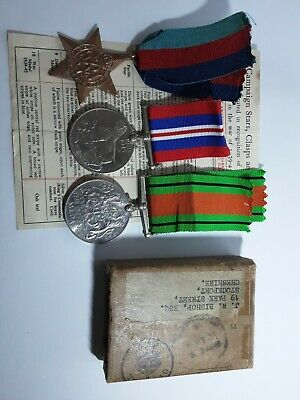 £23 • Buy WW .ll.Grouping Of 3 Original Medals And I.d Papers And Box.
