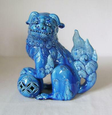 £100 • Buy Large Antique Turquoise Glazed Dog Of Foo Figure: 20 Cm High  A/F C.19th