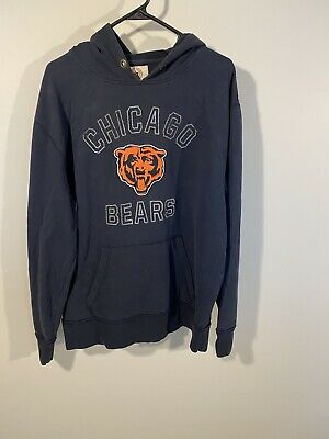 $15.99 • Buy 47 Brand Chicago Bears Hoodie Navy Blue Size Large