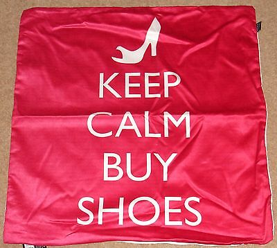 £3.99 • Buy Keep Calm And Buy Shoes  Print 24 X24  Cushion Cover Faux Suede  Hand Washable