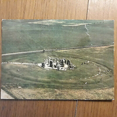 £0.80 • Buy Postcard Air View From The West Of Stonehenge Wiltshire Postcard