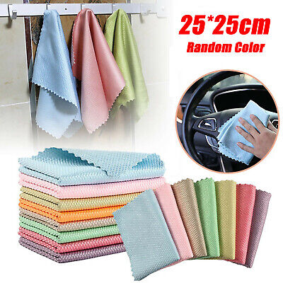 £0.99 • Buy 5pcs Special Fish Scale Wipes Rag For Glass Cleaning Housework Cleaning Cloth