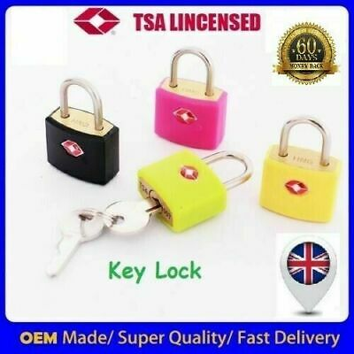 £3.49 • Buy Solid TSA Approved Brass Padlock Travel Luggage Suitcase Key Lock & Number Pad