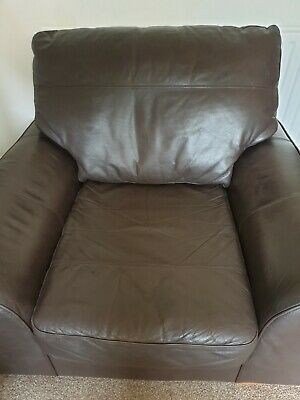 £77 • Buy Brown Leather Armchair Used