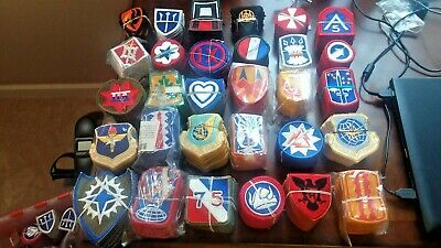 $179.99 • Buy (600) 30 Diff. Military Army & Air Force Full Color Insignia Sew-On Patches Lot