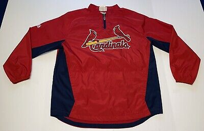 $34.99 • Buy Majestic Authentic Collection St. Louis Cardinals Pullover Jacket Men's Large