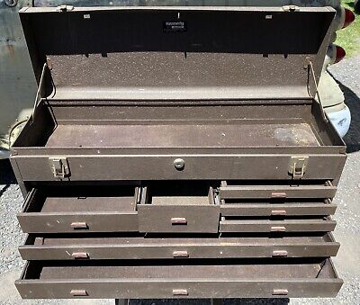 $75 • Buy Vintage Kennedy No. 526 Machinist Toolbox Tool Box Chest With Key USA