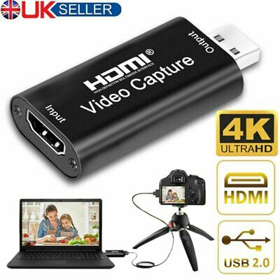 £7.99 • Buy HDMI Video Capture Card USB 2.0/1080p HD Recorder For Streaming/Game Video Live