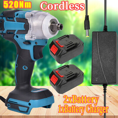£24.99 • Buy 18V Cordless Impact Wrench Brushless Driver Torque Replace W/ Charger + Battery-
