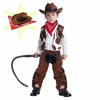 $34.15 • Buy Cowboy Costume Deluxe Set For Kids Halloween Party Dress UpRole Play And Cosp...
