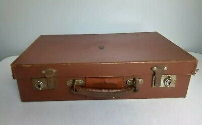 £75 • Buy VINTAGE CHEYNE ROYAL INSIGNIA Leather Government Briefcase/Suitcase.