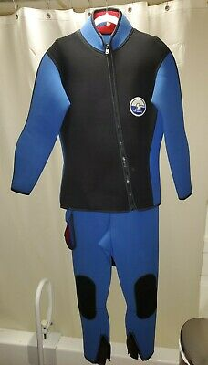 $10.50 • Buy Subaquatic Systems Diving  Wet Suit SIZE Large Blue Red Men's Women's
