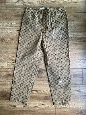 $764.20 • Buy Brand New Tagged Men's Gucci Monogram Trousers Drawstring Size 50 Waist 34