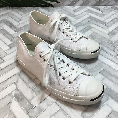 $39.99 • Buy Converse Jack Purcell Chucks White Leather Sneakers Shoes Men US 9.5 Women 11
