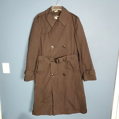 $24.99 • Buy Military Trench Coat Rain Jacket Removeable Liner Vintage Army US Men 38 L Black