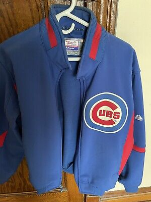 $35 • Buy Chicago Cubs Majestic Authentic Dugout Jacket - Men's Large - MLB