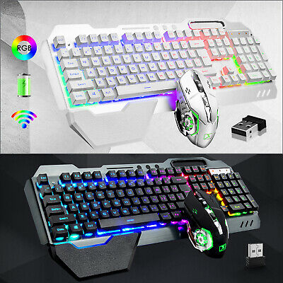 AU58.85 • Buy Rechargeable Gaming Keyboard Mouse Set USB Wireless RGB Backlit For PC PS4 Xbox