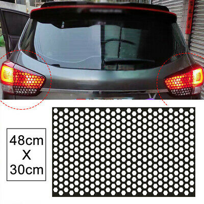 £6.11 • Buy 1x Rear Tail Light Cover Black Honeycomb Sticker Tail-lamp Decal Car Accessories