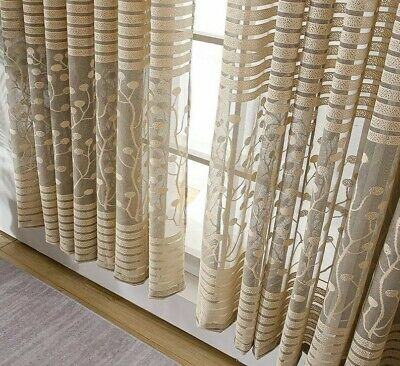 £28.58 • Buy Modern Shade Nets Sheer Curtain For Home Essentials Polyester Yarn Dyed Curtains