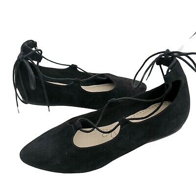 £14.50 • Buy Clarks Somerset Size 5.5 Ballet Flat Pumps Women Black Suede Lace Up  Melody