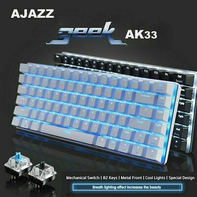 AU43.11 • Buy Ajazz AK33 Mechanical Gaming Keyboard Usb Wired Blue Switch For PC Laptop Office
