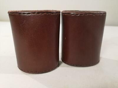 £75 • Buy A Pair Of Leather Dice Shakers For Backgammon