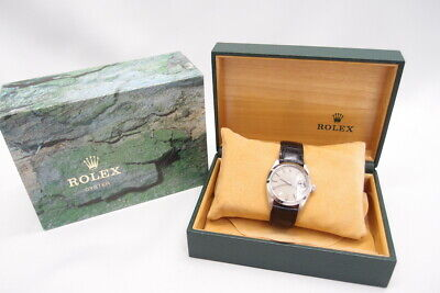 $ CDN3829.92 • Buy ROLEX Oyster Perpetual Date 6694 Automatic 34 Mm Leather Belt W/Box Ladies Auth