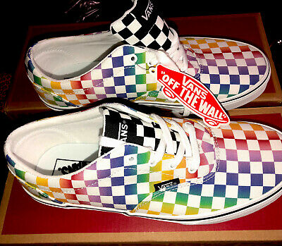 $ CDN62.54 • Buy Vans Rainbow Check Womens Size 8.5 Skate Shoes New Fast Ship 🔥mens 6 /youth 6