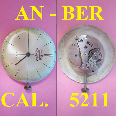 $ CDN22.28 • Buy Movimento An-ber Cal. 5211 Movement Manual Old Watch X Parts Not Working Vintage