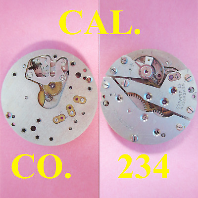 $ CDN35.65 • Buy Movimento Cal. Co 234 Movement Manual Old Watch For Parts Not Working Vintage