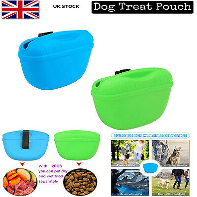 £5.81 • Buy Pet Training Treat Bag Pouch Silicone With Clip Waist Pack Feed Dog Pouch IN SDA