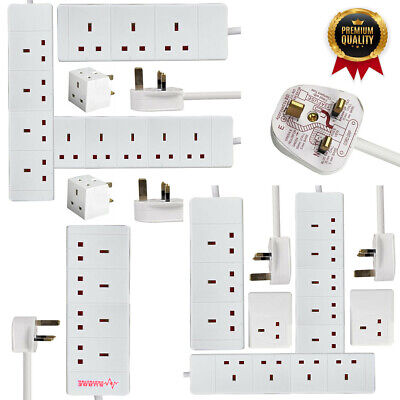 £9.99 • Buy UK Extension Lead Cable Electric Mains 1 2 3 4 6 Gang Way Plug Power Socket New