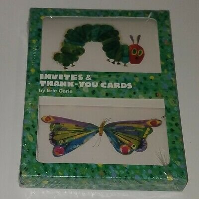 £9.40 • Buy NEW Eric Carle Very Hungry Caterpillar 10 Invites & 10 Thank You Cards Set 2007