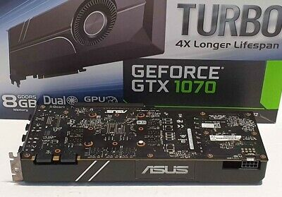 $ CDN564.25 • Buy GTX 1070 Turbo Graphics Card Nvidia Geforce Asus 8GB Great Condition Tested Work