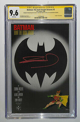 £232.38 • Buy Batman: The Dark Knight Returns #3 CGC 9.6 Signed SS By Frank Miller White Pages