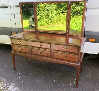 £115 • Buy Vintage Stag Minstrel Dressing Table / Console Table Wth Tri-fold Tilting Mirror