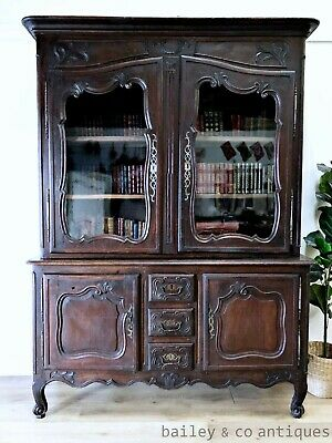 AU2775 • Buy Antique French Bookcase Vitrine Buffet Sideboard Louis XV Style - SFB115