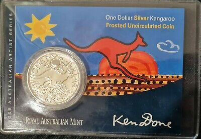 £73.60 • Buy 2009 Kangaroo Ken Done $1 1oz Frosted UNC Silver Coin