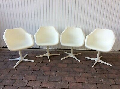 £525 • Buy 4 Vintage Robin Day Hille Overman Signed Swivel Bucket Chairs _ Ltd Delivery Inc