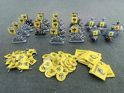 £13.50 • Buy Mighty Empires Original Spares Warhammer 40k Gw Yellow Army Ships And Tokens