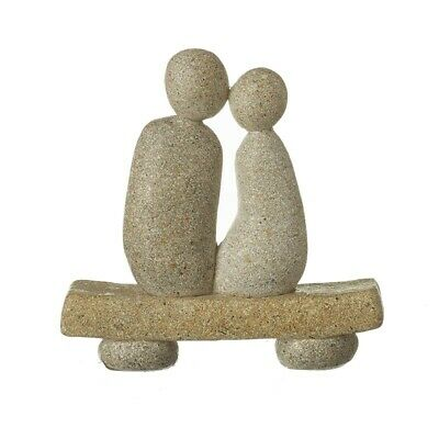 £13.99 • Buy Ornament Gift Home Stone Couple On A Bench Love Valentines Sculpture Figurine