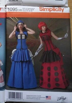 £12.50 • Buy 1095 Simplicity Sewing Pattern Misses Costume Doctor Who Tardis Dalek Size 6-14